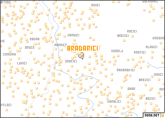 map of Bradarići
