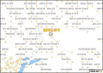 map of Bradirn
