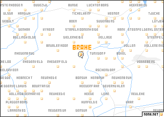 map of Brahe