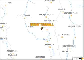 map of Braintree Hill