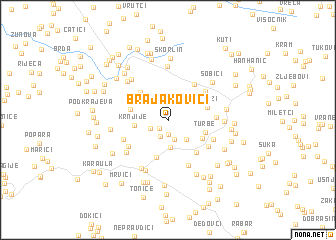 map of (( Brajakovići ))
