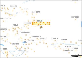 map of Brajčin Laz