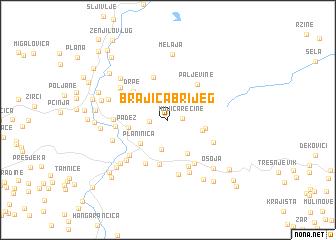 map of Brajića Brijeg