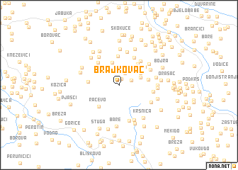 map of Brajkovac