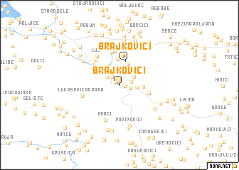 map of Brajkovići