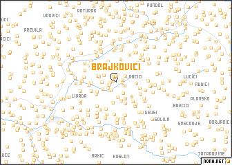 map of Brajkovići
