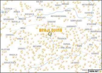 map of Brajlovina