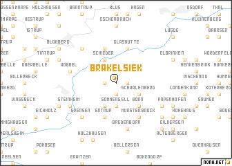 map of Brakelsiek