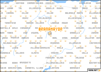 map of Brañamayor