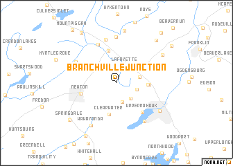 map of Branchville Junction