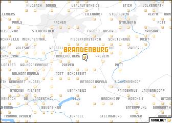 map of Brandenburg