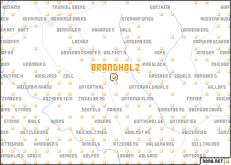 map of Brandholz
