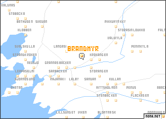 map of Brandmyr