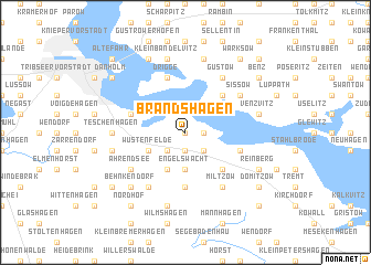 map of Brandshagen