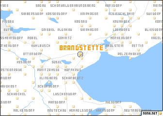 map of Brandstette