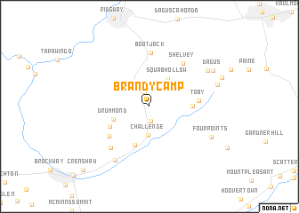 map of Brandy Camp
