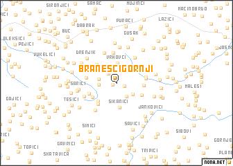 map of Branešci Gornji