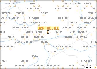 map of Brankovice