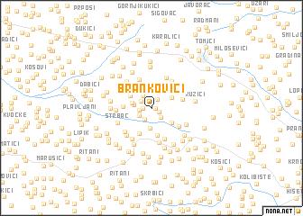 map of Brankovići