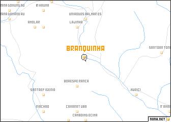 map of Branquinha