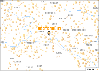 map of Bratanovići