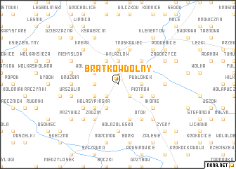 map of Bratków Dolny