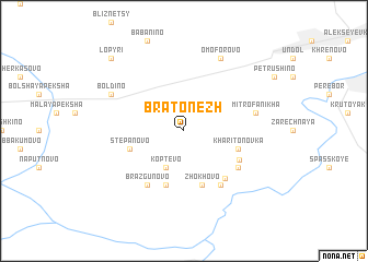 map of Bratonezh