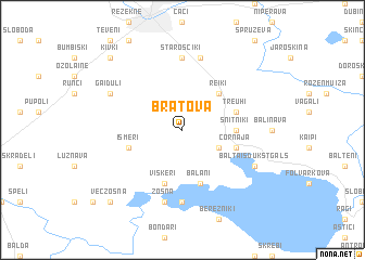 map of Bratova