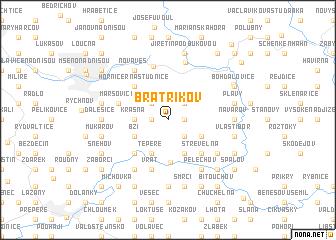 map of Bratříkov
