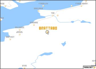 map of Brattabø