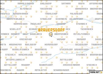 map of Bräuersdorf