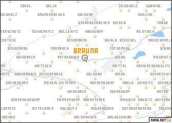 map of Brauna