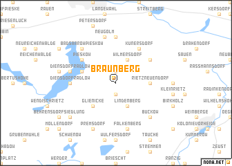 map of Braunberg