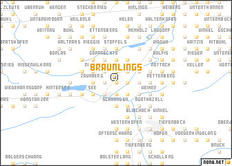 map of Bräunlings