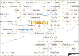map of Bräunlings