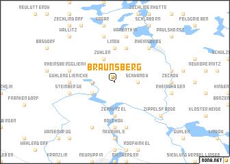 map of Braunsberg