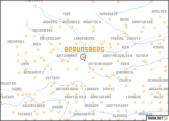 map of Braunsberg