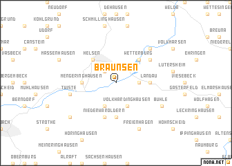 map of Braunsen