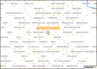 map of Braunshorn