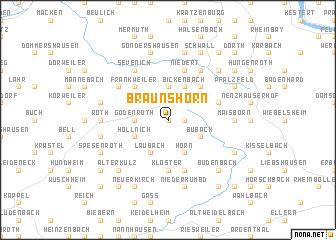 map of Braunshorn