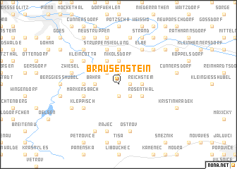 map of Brausenstein
