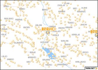 map of Bravići