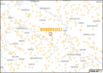 map of Brborevići
