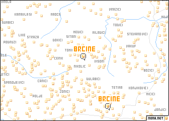 map of Brčine