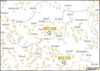 map of Brčine