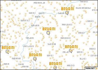 map of Brđani