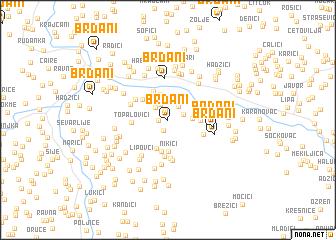 map of Brđani