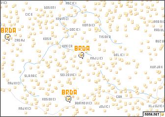 map of Brda