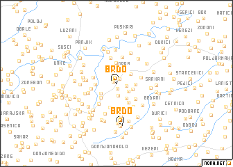 map of Brdo