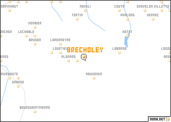 map of Brecholey